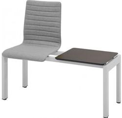 Wachtkamerbank Oscar 1-zits gestoffeerd + tafelblad  - Verkrijgbaar in verschillende stoffen