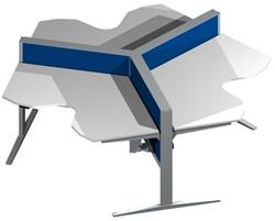 Markant MAX Wing T-Range 3-Persoonsbureau