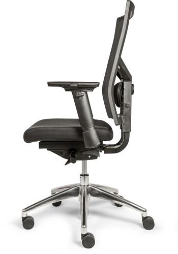 Bureaustoel VLS Office 06 4-D Armleggers Alu Voetenkruis-3