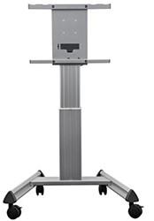 """Verrijdbaar standaard in hoogte verstelbaar voor 50-58"""" schermen"""