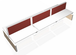 Bench Bureau MAX Panel-Range Markant 6 personen