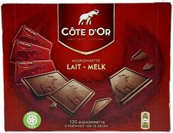 CHOCOLADE COTE D'OR 10GR MIGNONNETTE MELK MONO 120 Stuk