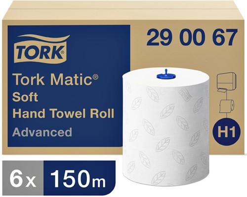 HANDDOEKROL TORK ADVANCED H1 2LAAGS 6ROL 290067 6 Rol