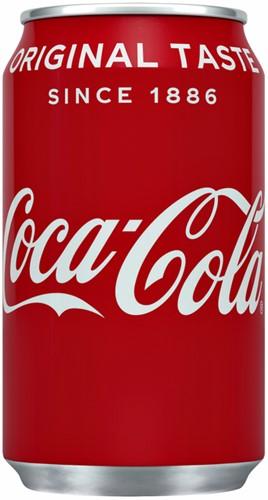 Frisdrank Coca Cola Regular blikje 0.33L 33 Centiliter