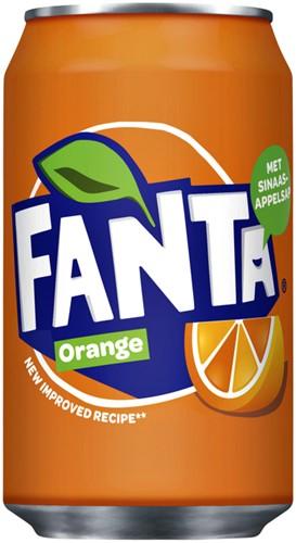 Frisdrank Fanta Orange blikje 0.33L 33 CL
