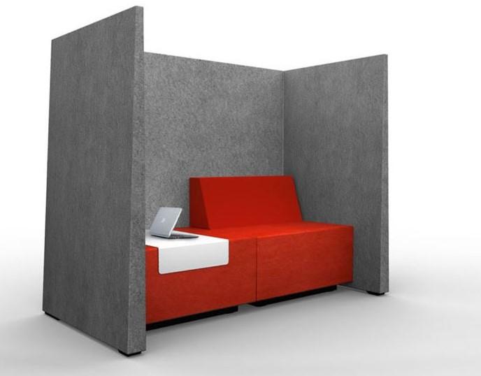 Kussen Voor Bank : Akoestische bank met kussen en metalen tafel gt grey gu