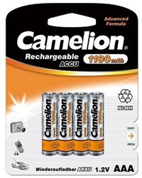 CAMELION RECHARGEABLE BATTERIJ 1100MAH AAA 4 STUKS