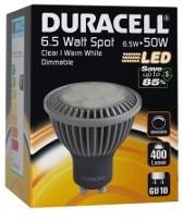 DURACELL LED S1 SPOT HELDER 6.5W GU10 400LM 3000K DIMBAAR 1 STUK