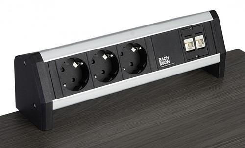 Stekkerdoos Opbouw 2x 230V, 1x CAT6A, 1x USB, 1x HDMI