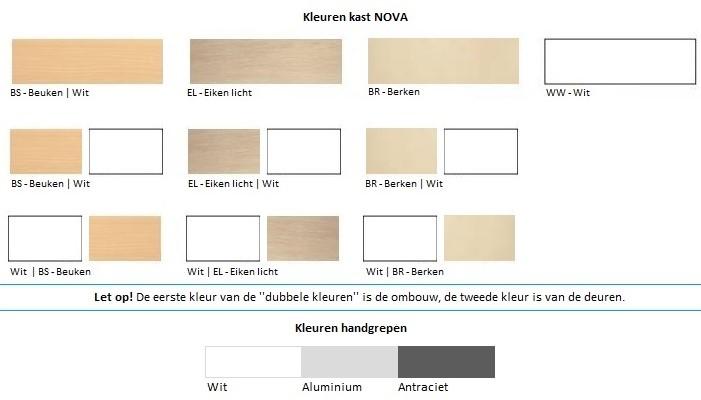 Houten Lockerkast Nova 6 Deurs Hoogte 109cm