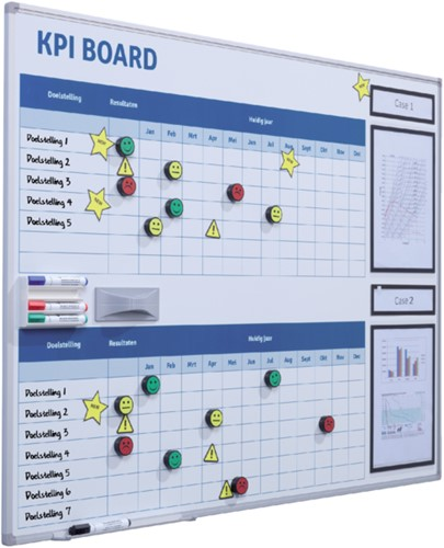 KPI BORD + STARTERKIT VISUAL MANAGEMENT 90X120CM 1 Stuk