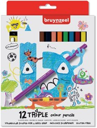 KLEURPOTLOOD BRUYNZEEL KIDS TRIPLE ASS 12 Stuk