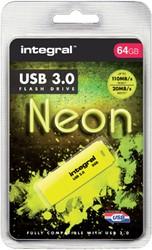 USB-STICK INTEGRAL 64GB 3.0 NEON GEEL 1 Stuk
