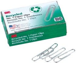 PAPERCLIP OIC 30MM RECY 100 Stuk