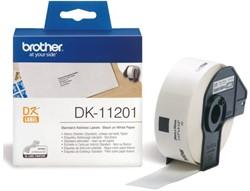 LABEL ETIKET BROTHER DK-11201 29MMX90MM ADRES WIT 400