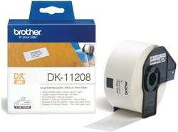 LABEL ETIKET BROTHER DK-11208 38MMX90MM ADRES WIT 400