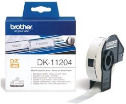 LABEL ETIKET BROTHER DK-11204 17MMX54MM WIT 400