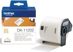 LABEL ETIKET BROTHER DK-11202 62MMX100MM VERZ WIT 300 Label