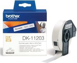 LABEL ETIKET BROTHER DK-11203 17MMX87MM WIT 300 Label