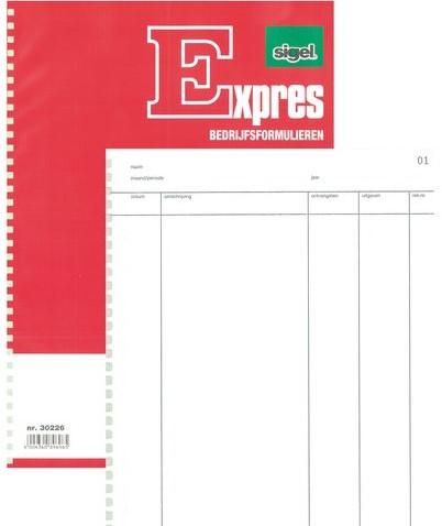 KASBOEK DOORSCHRIJF SIGEL EXPRES 30226 A4 50X2BL 1 STUK