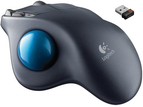 Muis Logitech Laser Trackball M570 drl grijs 1 Stuk