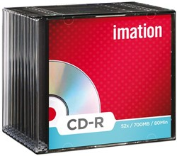 CD-R IMATION 700MB 52X SLIMLINE 1 Stuk