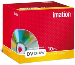 DVD+RW IMATION 4.7GB 4X SHOWBOX 1 Stuk