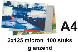 LAMINEERHOES BUDGET A4 2X125MICRON 100 Stuk