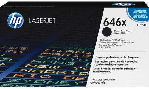 TONERCARTRIDGE HP 646X CE264X 17K ZWART 1 Stuk