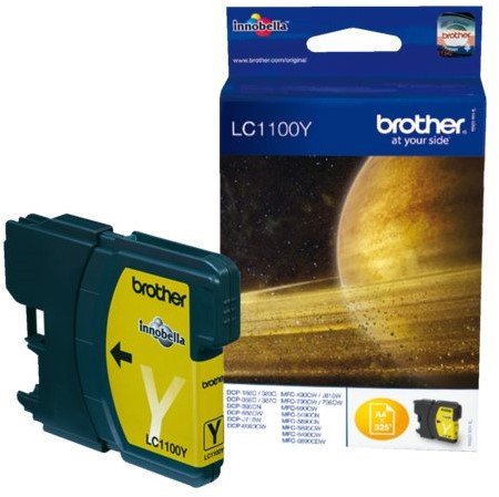 INKCARTRIDGE BROTHER LC-1100 GEEL 1 Stuk