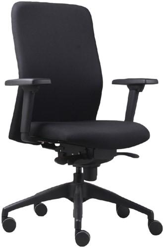 Bureaustoel Vigo 002 Zwart 3D armleggers