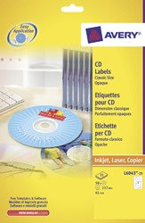 ETIKET AVERY CD L6043-25 50ST 25