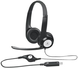 HEADSET LOGITECH H390 ON EAR USB ZWART 1 Stuk