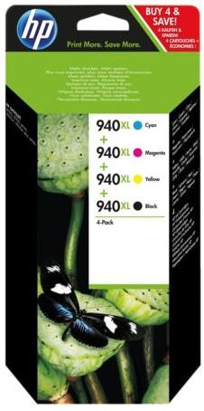 INKCARTRIDGE HP C2N93AE NR.940XL ZWART+3 KLEUREN HC 4 Stuk