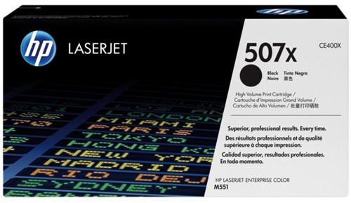 TONERCARTRIDGE HP 507X CE400X 11K ZWART 1 Stuk