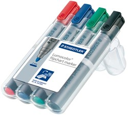 VILTSTIFT STAEDTLER 356 FLIPOVER ROND 2MM ASS 4 Set