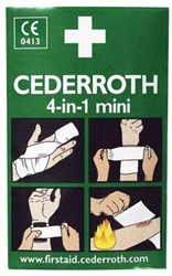 BLOEDSTOPPER CEDERROTH MINI VERBAND GROOT 1 Stuk