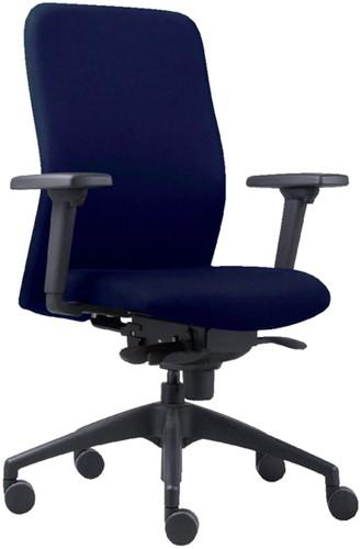 Bureaustoel Vigo 002 blauw rD armleggers
