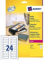 ETIKET AVERY DATA L7665-25 72X21.2MM 600ST 25