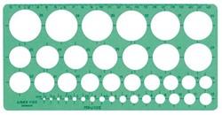 SJABLOON LINEX 1116S CIRKELS MET INKTVOETJES 1 Stuk