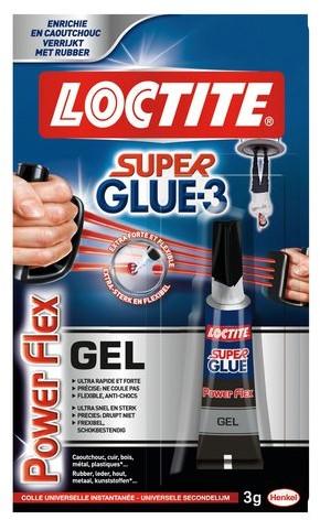 SECONDELIJM LOCTITE POWERFLEX GEL 3GR 1 Stuk