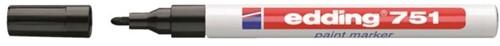 VILTSTIFT EDDING 751 LAK ROND 1-2MM ZWART 1 Stuk