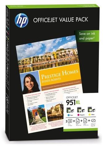 INKCARTRIDGE HP 951XL CR712AE HC 3 KL + 75VEL A4 1 Set