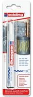 VILTSTIFT EDDING 750/1 LAK ROND 2-4MM WIT 1 Stuk