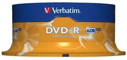 DVD-R VERBATIM 4.7GB 16X 25PK SPINDEL 25 Stuk