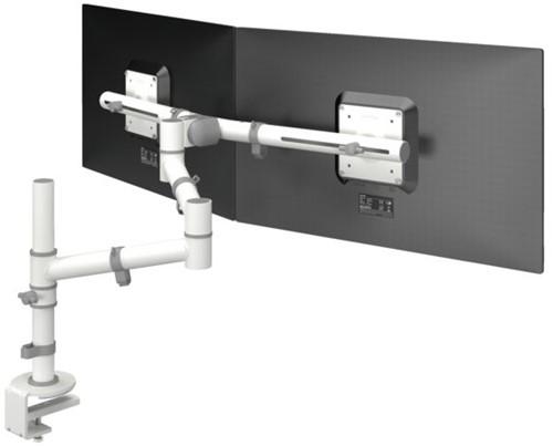 Monitorarm 2 schermen Dataflex bureau 130 - wit 1 Stuk