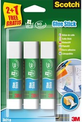 LIJMSTIFT 3M SCOTCH 21GR 2+1 GRATIS 2+1 Stuk