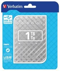 HARDDISK VERBATIM 1TB HDD USB 3.0 ZILVER 1 Stuk