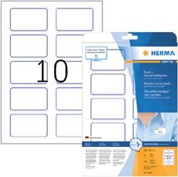 NAAMBADGE ETIKET HERMA 4410 80X50MM WIT BLAUW 20 Vel