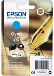 INKCARTRIDGE EPSON 16 T1622 BLAUW 1 Stuk